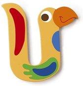 Scratch Letter U Vogel Geel 5.5 Cm