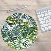 Muismat Rond Palm | Muismat Rubber | Mousepad 20 x 20 cm