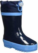 Playshoes Regenlaarzen met trekkoord Kinderen - Donkerblauw - Maat 24-25