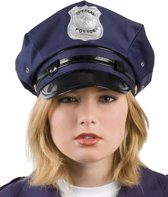 Politie pet blauw voor volwassenen