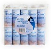 LaundrySpecialist® NAVULSET voor pluizenrollers – set van 10 – voor het verwijderen van dierharen en pluizen van alle textiel - 10 rollen à 55 spiraalvormige kleefvellen / ca. 8 meter per roller