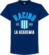 Racing Club Established T-Shirt - Navy Blauw - S