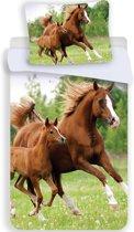 Animal Pictures Paard & Veulen - Dekbedovertrek - Eenpersoons - 140 x 200 cm - Multi