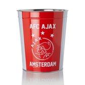 Ajax prullenbak - rood/wit