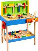 howa groot houten speelgoed werkbank met 32 gereedschap 4900 howa speelgoed. Black Bedroom Furniture Sets. Home Design Ideas