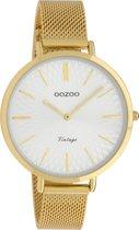 OOZOO Vintage C9863 Goudkleurig Wit 40mm