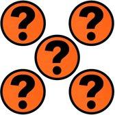 5 Whiteboard Magneten Vraagteken