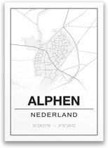 Poster/plattegrond ALPHEN - A4