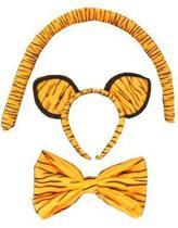 Dierenset tijger met staart strik en diadeem