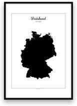 Duitsland landposter - Zwart-wit