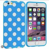 Movizy Polkadot iPhone 6 cover - lichtblauw