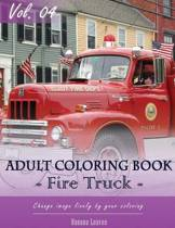 Fire Trucks Coloring Book for Stress Relief & Mind Relaxation, Stay Focus Treatment