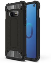 Samsung Galaxy S10e - Tough Armor-Case Bescherm-Cover Hoes Skin - Zwart