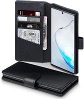 Qubits - luxe echt lederen wallet hoes - Samsung Galaxy Note 10 - Zwart