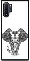 Galaxy Note 10 Plus Hardcase hoesje Elephant Mandala Black