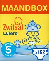 Zwitsal Maandbox Maat 5 (Junior) 9-18 kg Luiers -162 stuks