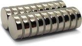 Super sterke magneten - Rond - 20 x 5 mm - 10 Stuks