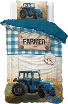 Dreamhouse Tractor Life - Kinderdekbedovertrek - Eenpersoons - 140x200 + 1 kussensloop 60x70 - Blauw