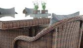 Clp Candela - Dining Tuinset - 5mm Poly-rotan - Kleur rotan : bruin gemeleerd Overtrek : ijzerachtig grijs