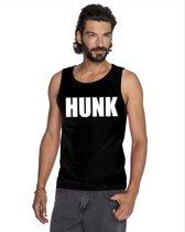 Hunk tekst singlet shirt/ tanktop zwart heren XL