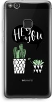 Huawei Ascend P10 Lite Transparant Hoesje (Soft) - Hey you cactus