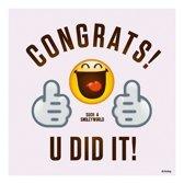 40x Smiley geslaagd/diploma behaald servetten 33 x 33 cm - Emoticon servet