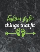 Fashion Style- Things That Fit: The best week by week pregnancy journal notebook