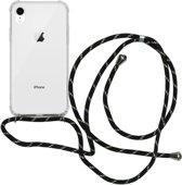 iMoshion Backcover met koord iPhone Xr hoesje - Zwart Goud