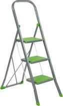 Trapladder Color Step groen 3 treden