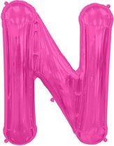 Letter N Magenta lucht 41cm