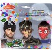 Schmink Jongens - Carnaval make-up kit - Schmink set 6 x 2 gram inclusief schminkinstructies