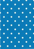 2LIF Dots Aqua Tafelzeil - PVC -  140 x 170 cm