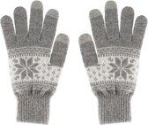 STREETZ GLV-101 Touchscreen Winter Handschoenen Nordic Design Maat L Large Kleur Grijs-Wit