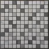 Mozaiek tegel marmer grijs/beige mix 033M