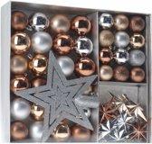 Kerstballen set -  Brons, zilver, goud - 45-delig