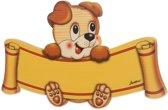 Naambord hond van hout 29 x 17 cm | Bartolucci
