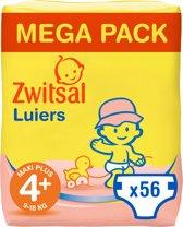 Zwitsal  Luiers Maxi Plus Maat 4+ 56 stuks