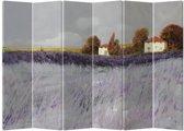 Fine Asianliving Kamerscherm Scheidingswand 6 Panelen Lavendeltuin