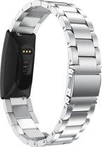 Metaal schakel bandje Zilver geschikt voor Fitbit Inspire of Inspire HR