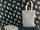 Leopard katoenen tas set van 2