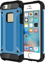 iPhone SE - 5 - 5S - Super Sterke Armor-Case Bescherm-Cover Hoes Blauw