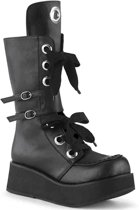 SPRITE-210 - (EU 36 = US 6) - 2 1/4 PF Lace-Up Mid-Calf Boot, Side Zip