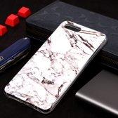 Let op type!! Marmer patroon Soft TPU Case voor Huawei Y5 Prime (2018) (wit)