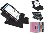Ice Phone Ice Tablet Diamond Class Polkadot Hoes met 360 graden Multi-stand, wit , merk i12Cover
