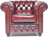 The Original Chesterfield - Brighton - Fauteuil - Zetel Salon - Met arm - Antiek Rood