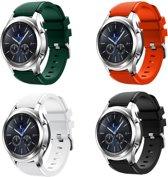 Sportbandje geschikt voor Samsung Gear S3 & Galaxy Watch 46mm 4-pack