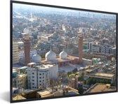Foto in lijst - Zonnige dag in Karachi fotolijst zwart 40x30 cm - Poster in lijst (Wanddecoratie woonkamer / slaapkamer)