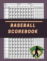Baseball Scorebook: 120 Game Book Baseball And Softball