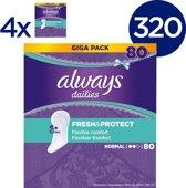 Always Dailies Fresh & Protect Normal - Voordeelverpakking 400 Stuks - Inlegkruisjes