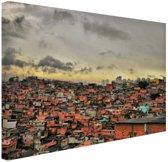 Favela Paraisopolis Canvas 30x20 cm - Foto print op Canvas schilderij (Wanddecoratie)